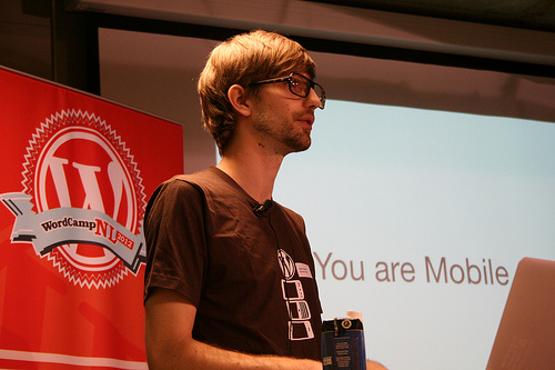 Isaac Keyet at a previous WordCamp Session